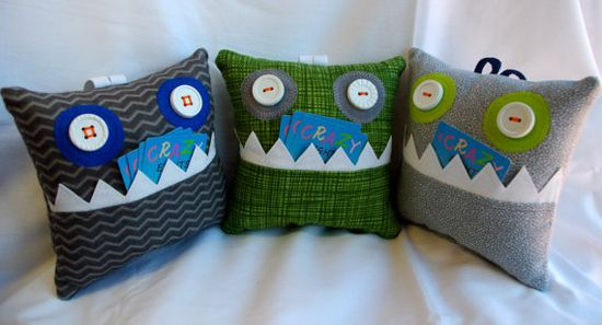 Boy Tooth Fairy Pillow Little Pet Monster by SpinningFeet