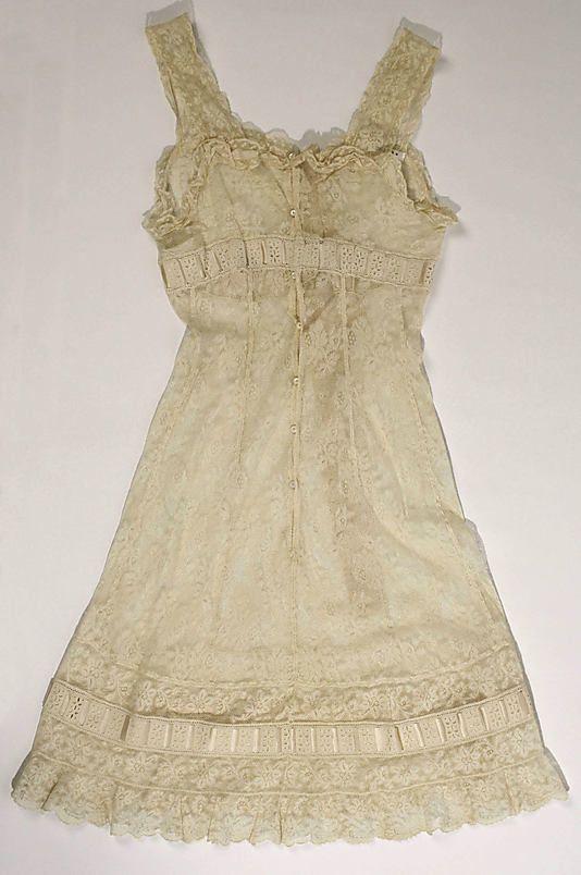 The Metropolitan Museum of Art - Wedding lingerie. 1917 :: vintage :: slip :: lace :: ivory :: underpinnings ::