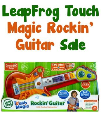 LeapFrog Touch Magic Rockin' Guitar Sale: $11.39! {check another gift off the list!}