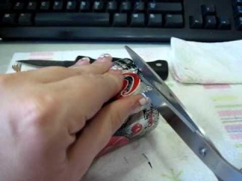 How I Cut Aluminum Cans for Embellishing Art