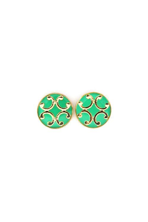 Bea Earrings in Mint Kelly.