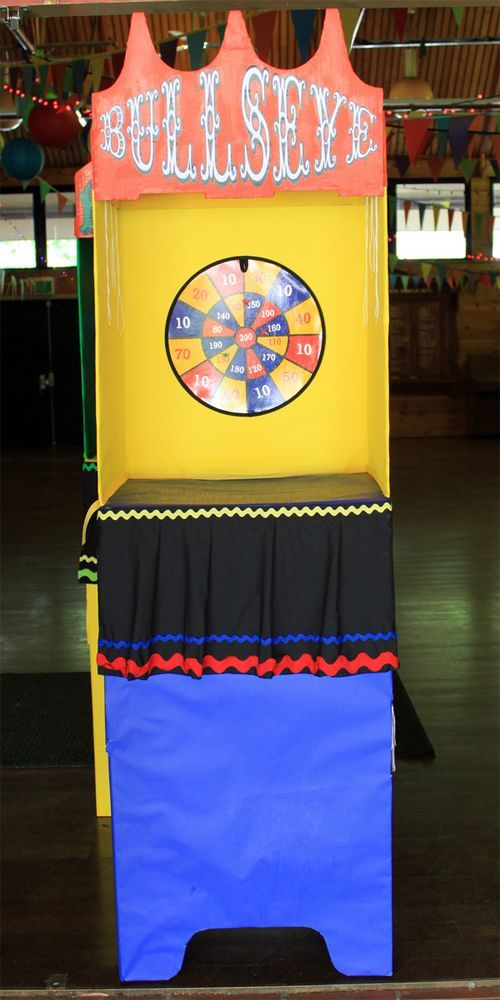 voting boxes turned carnival booths