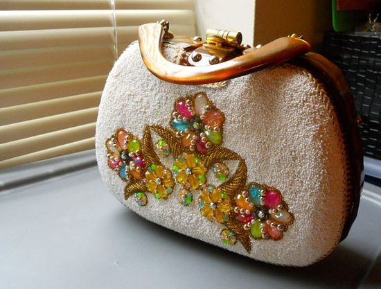Vintage Retro ADELE Hand Made Lucite Beaded by vintageheartbreaker, $75.00