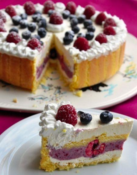 Charlotte Berry Spring Cake, Charlotte Cake, Charlotte Torte, berry, spring, spr