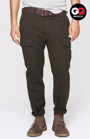 Todd Snyder -  'Officer' Wool Cargo Pants - $385.00