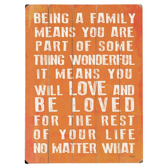 Being a Family Means . . .