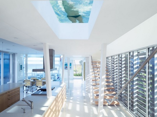 The pool above my kitchen! Awesome!