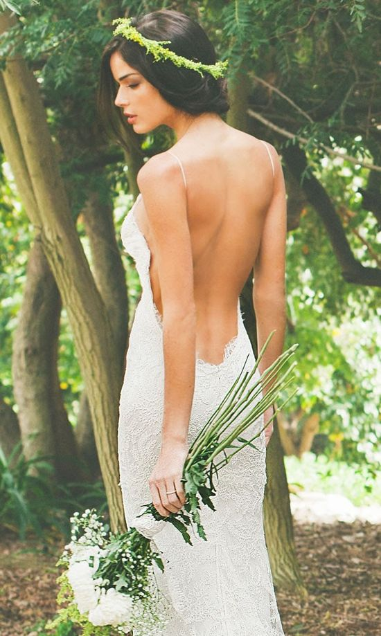 I LOVE these. Dare I wear something like this around my grandparents?? Saturday Style: Backless Wedding Dresses by Katie May