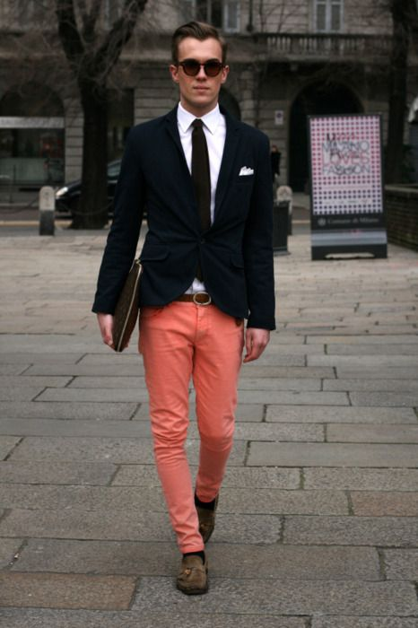 I like the bright pants. different separates make it look so much better