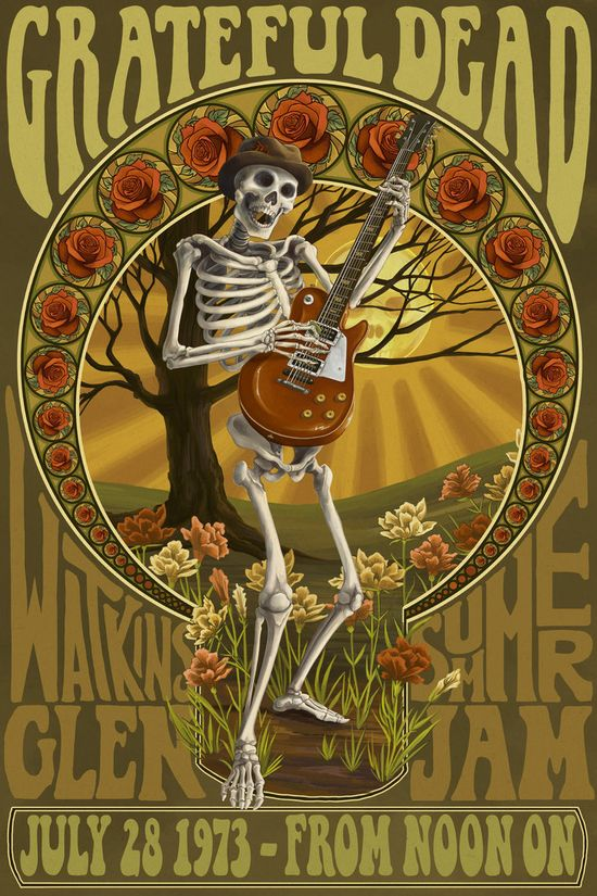 Grateful Dead Concert Repro Tour Poster Hill