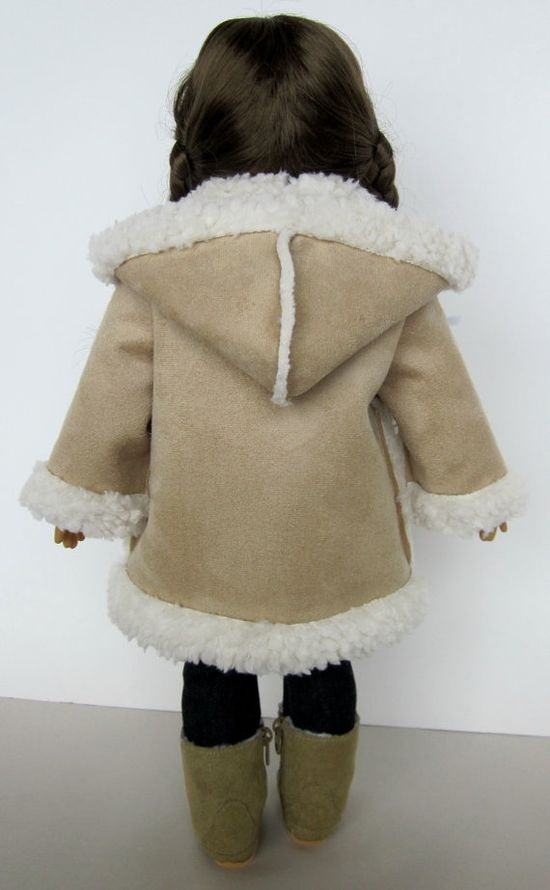 18 Inch Doll Clothes   Shearling Hooded by SewMyGoodnessShop, $18.00