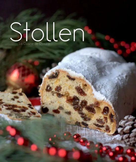 Stollen Gâteau allemand de Noel aux fruits secs et confits