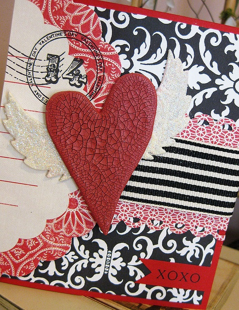 Heart with Wings Handmade Valentine Card by Indigo Wings, via Flickr