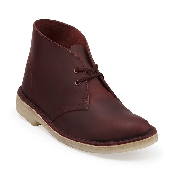 $110 Desert Boot-Women in Red Oak Leather - Womens Boots from Clarks