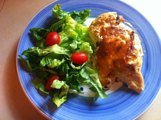 Creamy cheesy ranch baked chicken breast recipe
