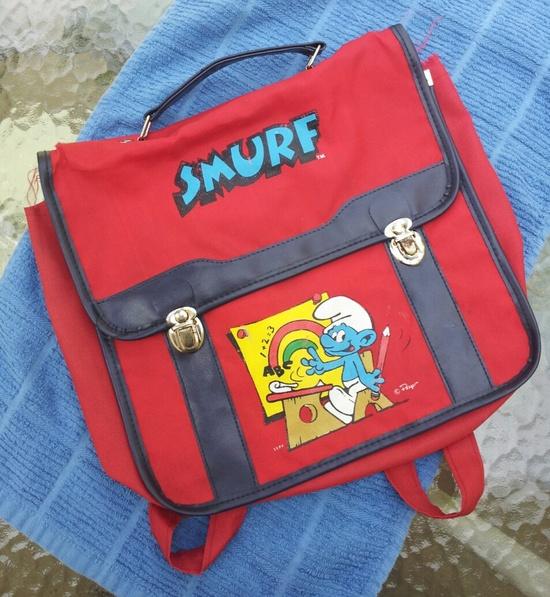 Vintage Smurf Bag