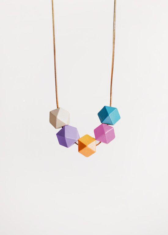 geometric necklace. bluebird lab. $30