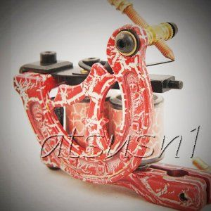 Custom Top Tattoo Machine Gun kit Hand Made 10 Wrap Coil ship from USA seller UMC-006 by The artist world. $7.99. Great weight front balance. Coils made by insulated copper wire. hand made 10 wraps. One high quality tattoo machine guns.  These tattoo guns are professionally hand crafted with low carbon steel frame to improve magnetic response delivering ultimate control and optimum function. These intricately handmade tattoo guns are designed with accurate specific...