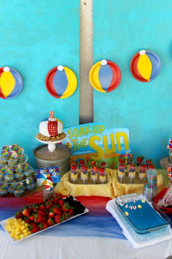 Beach Ball Birthday Bash via Kara's Party Ideas