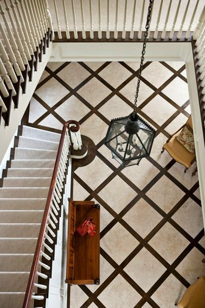Love the floor design via Mix And Chic