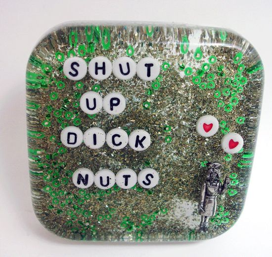 MATURE Shut Up Dick Nuts Bathroom Decor by UglyBaby