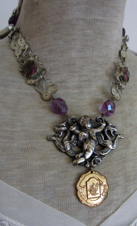 SOLD to Kami #vintage assemblage #necklace by the french circus.