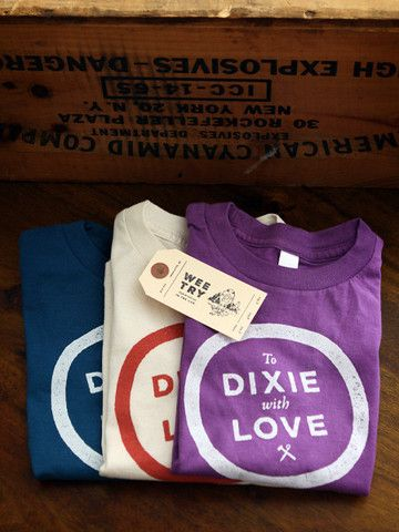 To Dixie With Love Kids Tee // 100% Organic Cotton // Made in the USA