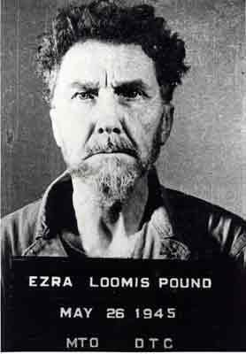 Ezra Pound's mugshot, taken by the US Army in 1945.