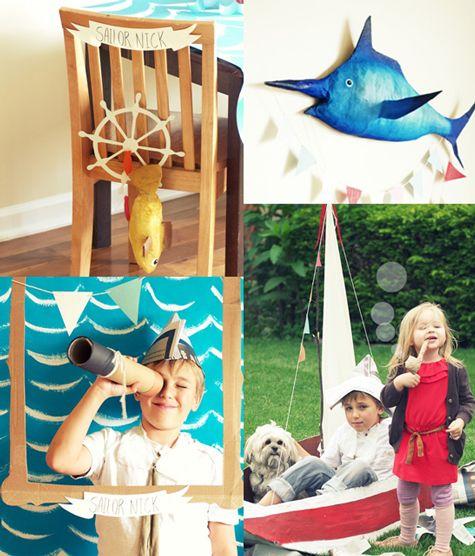 cute sail boat party ideas