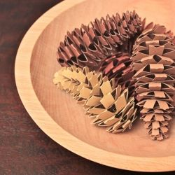 Who would have thought paper pinecones could look so real?