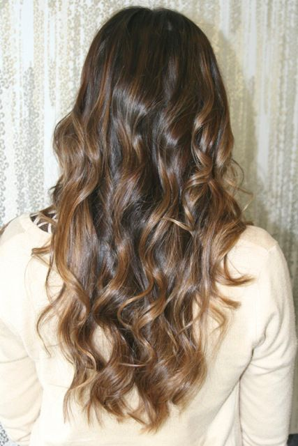 caramel brunette highlights/ That's my hair colour, hope my hair will look that nice when it's longer