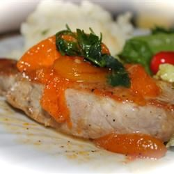 Honey Apricot Pork Chops by allrecipes: Ready in 35 minutes! #Pork_Chops #Quick