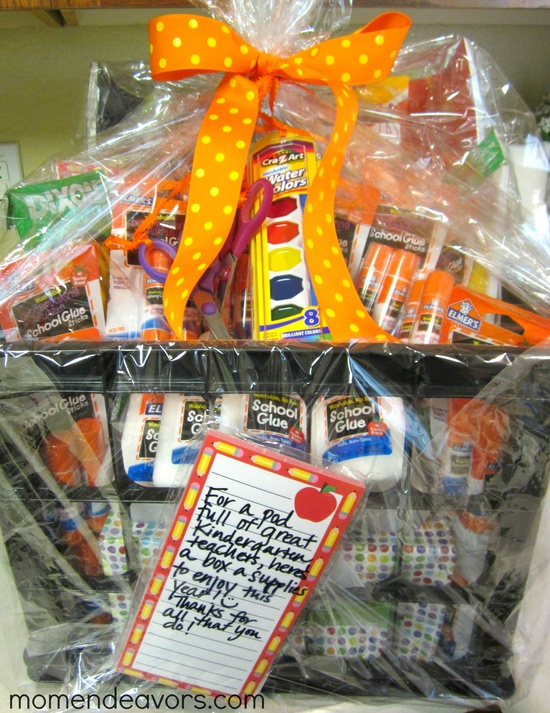 School Supply Gift Basket