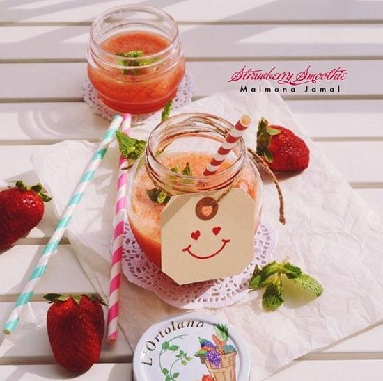 #diy #juice #photography #smile #yummy #food #strawberry