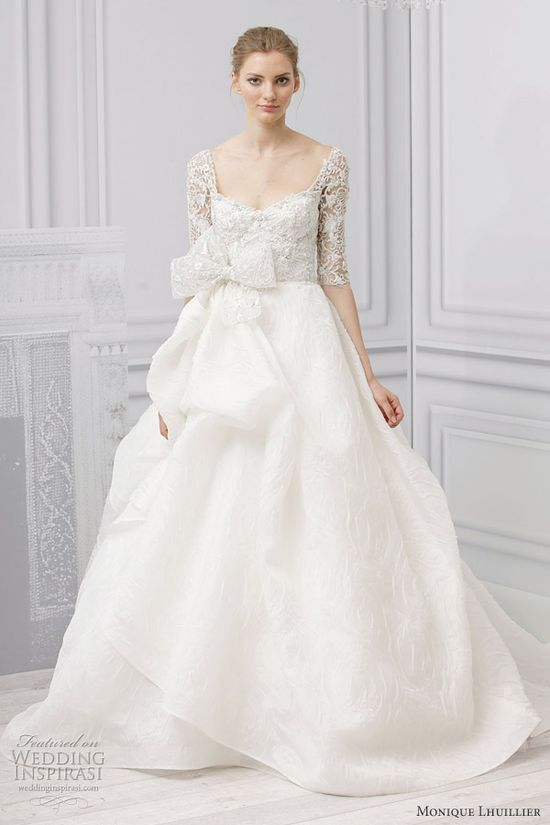 monique lhuillier royalty wedding dress spring 2013