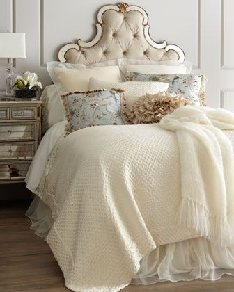 Queen Marquis Coverlet { #home #decor #bedroom #bedding } from @LuxeFinds.com ..com .
