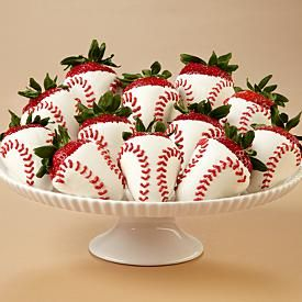 baseball strawberries. I love everything you can make strawberries into!