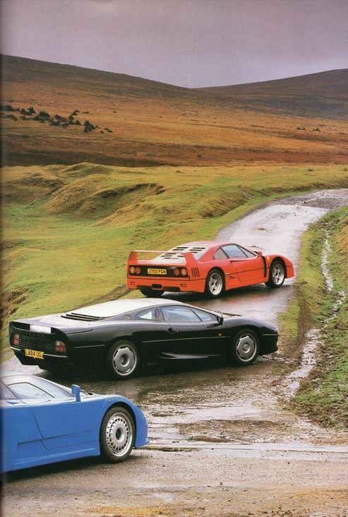 Bugatti EB110, Jaguar XJ220, Ferrari F40. No-one has made cooler cars since, IMO.