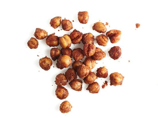 Crunchy Chickpeas: Satisfy your craving for salty, crunchy snacks with crisp, protein-packed, cumin-spiced chickpeas from Food Network Magazine.