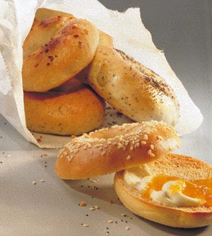 Learn how to make delicious homemade bagels from scratch: www.recipe.com/...
