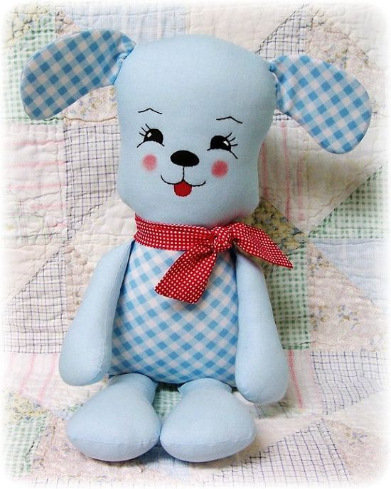 Puppy Dog Pattern, Stuffed Animal Pattern, Softie Pattern, Soft Toy Pattern, Plush Toy Pattern, Rag Doll Pattern, PDF Sewing Pattern,