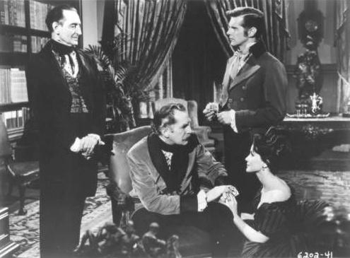 Basil Rathbone, Vincent Price, David Frankham and Debra Paget - Tales of Terror (1962)