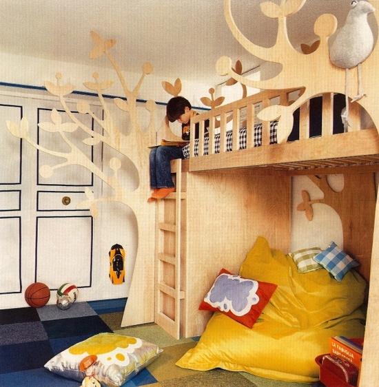 Tree House Bed, children's room, via Cookie Magazine