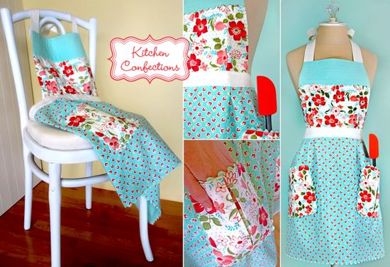 Kitchen Confections in Moda's Vintage Modern: Pleated Apron