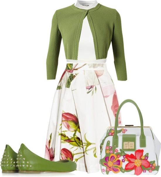 """""""Verde en primavera"""" by soledad-saavedra ❤ liked on Polyvore"""