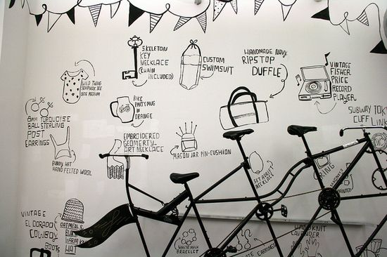 New Mural at Etsy's Office by Etsy Labs, via Flickr