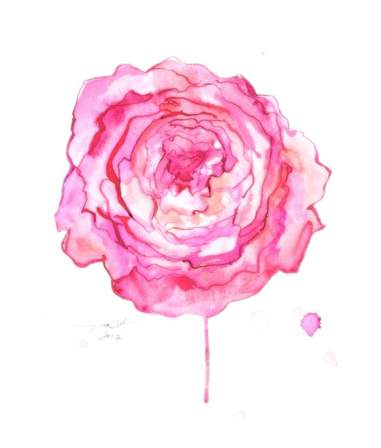 Print from original floral watercolor artwork by Jessica Durrant, The Fleeting and The Fragile. $25,00, via Etsy.