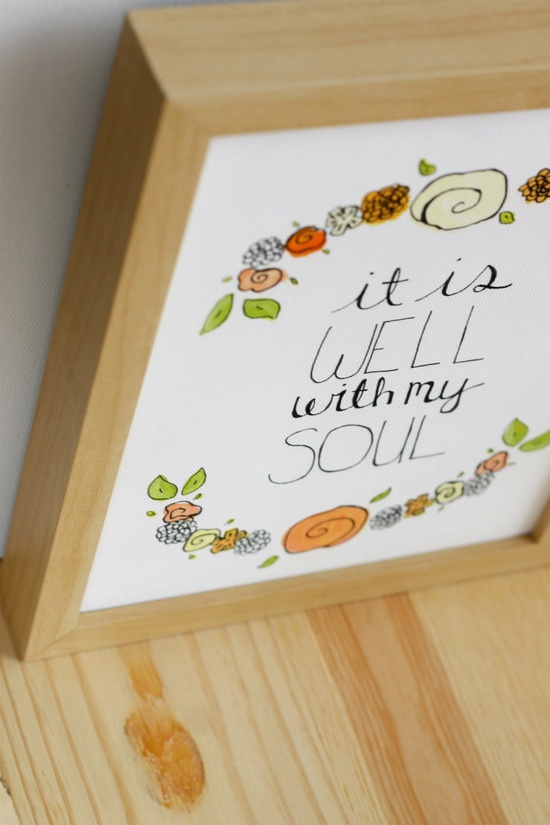 It Is Well With My Soul 8x10 Print on Canvas via @hello_hue on Etsy.