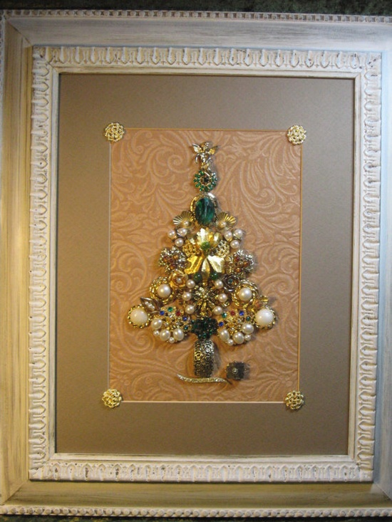 Vintage Christmas Jewelry Tree by CraftyGreen on Etsy, $85.00