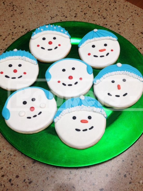 Decorated #Snowman Face #Christmas #Cookies